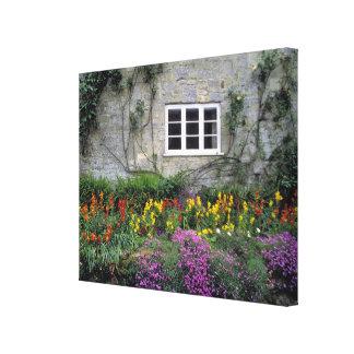 Europe, England, Teffont Magna. Flowers fill Canvas Print