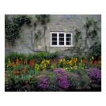 Europe, England, Teffont Magna. Flowers fill Posters