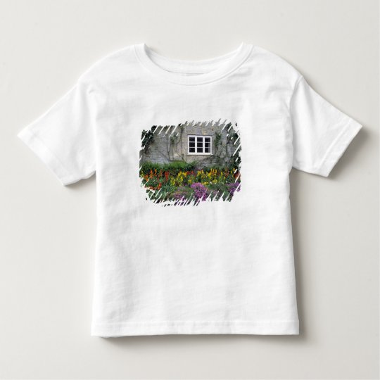 Europe, England, Teffont Magna. Flowers fill Toddler T-shirt