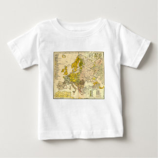 Europe ethnic map 1897 (hungarian version) baby T-Shirt