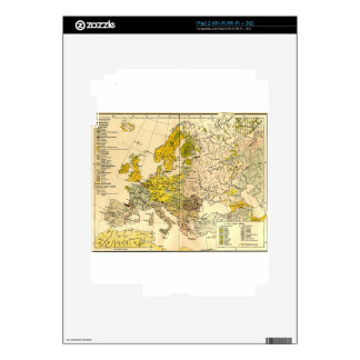 Europe ethnic map 1897 (hungarian version) iPad 2 decal