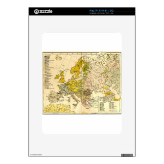 Europe ethnic map 1897 (hungarian version) skins for iPad