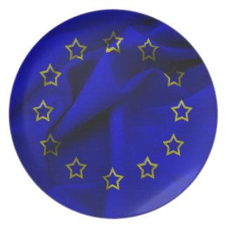 europe-flag dinner plate