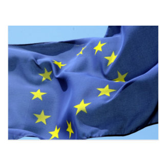 europe flag postcard