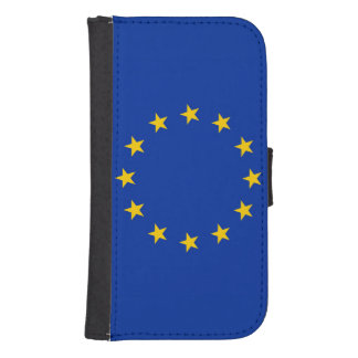 Europe flag wallet phone case for samsung galaxy s4