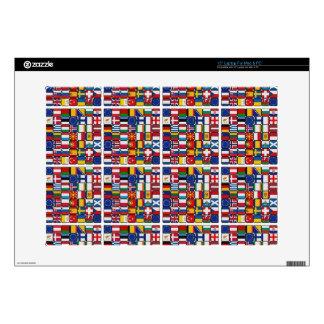 """Europe flags 15"""" laptop skins"""