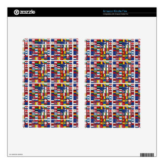 Europe flags kindle fire decal