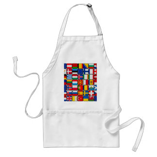 europe flags  World and peace Adult Apron