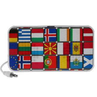 europe flags  World and peace Notebook Speakers