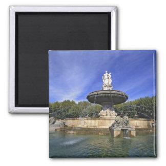 Europe, France, Aix-en-Provence. Fontaine de 2 Inch Square Magnet
