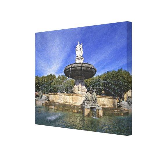 Europe, France, Aix-en-Provence. Fontaine de Canvas Print