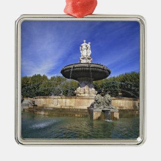 Europe, France, Aix-en-Provence. Fontaine de Christmas Ornaments