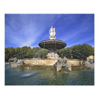 Europe, France, Aix-en-Provence. Fontaine de Photo Print