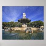 Europe, France, Aix-en-Provence. Fontaine de Poster
