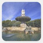 Europe, France, Aix-en-Provence. Fontaine de Square Sticker