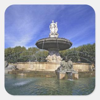 Europe, France, Aix-en-Provence. Fontaine de Stickers