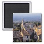 Europe, France, Bonnieux. Sunset light falls 2 Inch Square Magnet