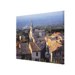 Europe, France, Bonnieux. Sunset light falls Canvas Print