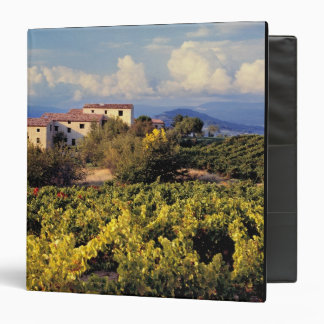 Europe, France, Bonnieux. Vineyards cover the 3 Ring Binder