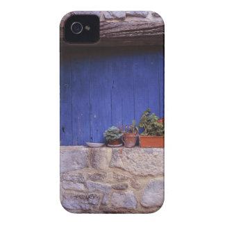 Europe, France, Cereste. A blue door adds color iPhone 4 Case-Mate Cases