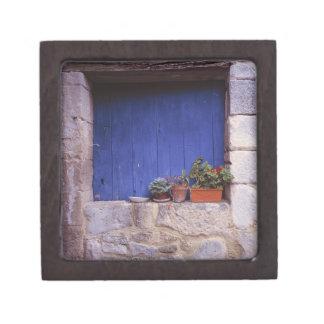 Europe, France, Cereste. A blue door adds color Keepsake Box
