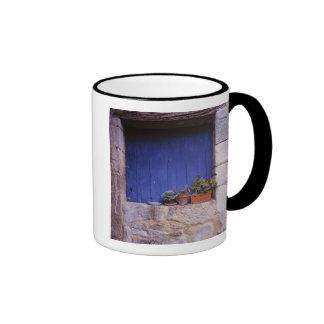 Europe, France, Cereste. A blue door adds color Ringer Coffee Mug