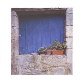 Europe, France, Cereste. A blue door adds color Notepad