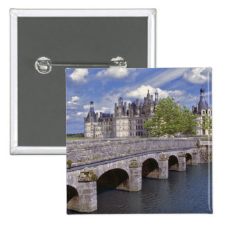 Europe, France, Chambord. A stone bridge leads Button