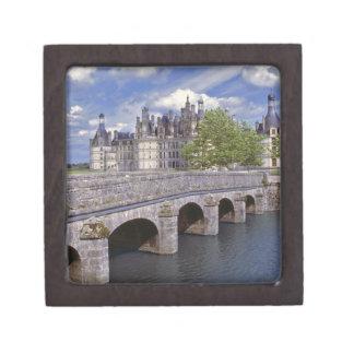 Europe, France, Chambord. A stone bridge leads Keepsake Box