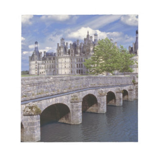 Europe, France, Chambord. A stone bridge leads Memo Pads