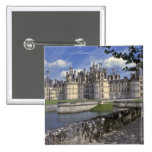 Europe, France, Chambord. Imposing Chateau 2 Inch Square Button