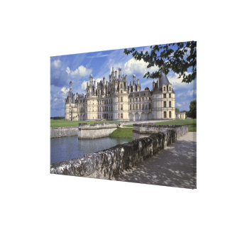 Europe, France, Chambord. Imposing Chateau Canvas Print