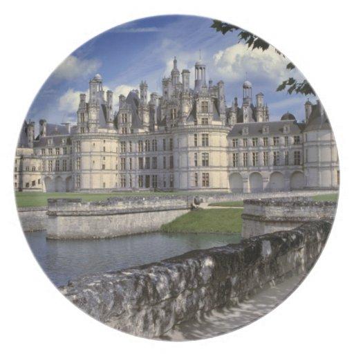 Europe, France, Chambord. Imposing Chateau Plates