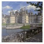 Europe, France, Chambord. Imposing Chateau Large Square Tile