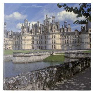 Europe, France, Chambord. Imposing Chateau Tile