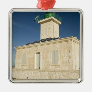 Europe, France, Corsica, Ile Rousse.  Lighthouse Metal Ornament