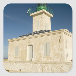 Europe, France, Corsica, Ile Rousse.  Lighthouse Square Stickers