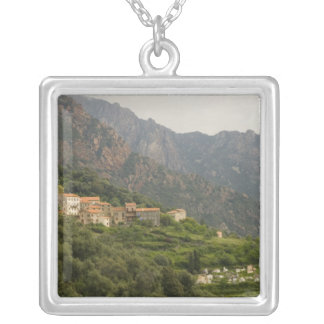 Europe, France, Corsica, Ota.  Town of Ota and Silver Plated Necklace