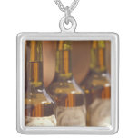 Europe, France, French Calvados Square Pendant Necklace