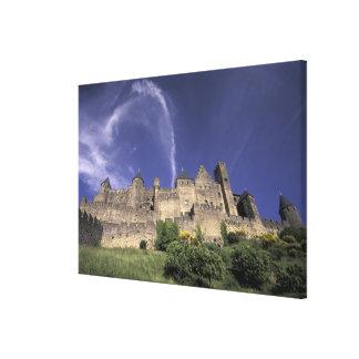 Europe, France, Languedoc; Aude; Carcassonne, Canvas Print