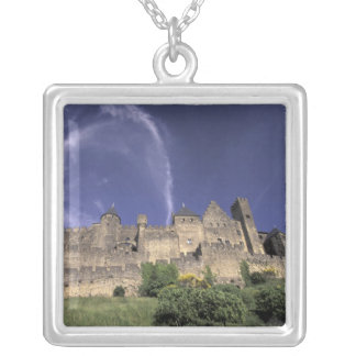 Europe, France, Languedoc; Aude; Carcassonne, Silver Plated Necklace