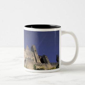 Europe, France, Languedoc; Aude; Carcassonne, Two-Tone Coffee Mug