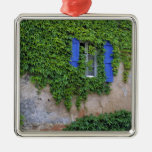 Europe, France, Lourmarin. Cascading ivy Square Metal Christmas Ornament