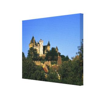 Europe, France, Montforte. The medieval castle Canvas Print