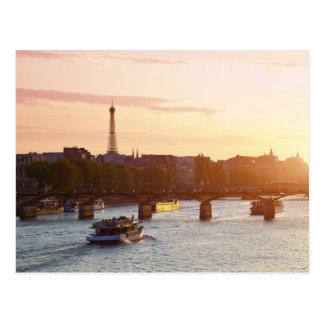 Europe, France, Paris (75), Tourist Boat on Post Card