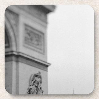Europe, France, Paris. Arc de Triomphe and 2 Beverage Coaster