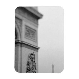 Europe France Paris Arc de Triomphe and 2 Magnet