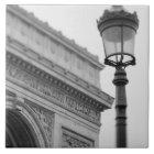 Europe, France, Paris. Arc de Triomphe and Ceramic Tile