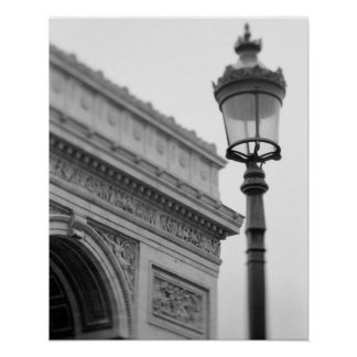 Europe, France, Paris. Arc de Triomphe and Poster