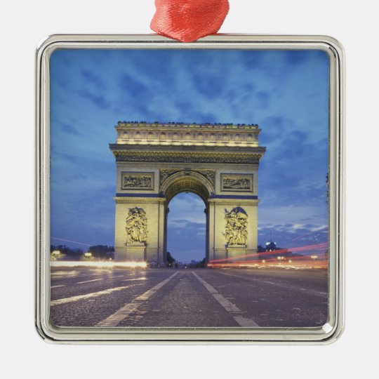 Europe, France, Paris. Arc de Triomphe as viewed Metal Ornament